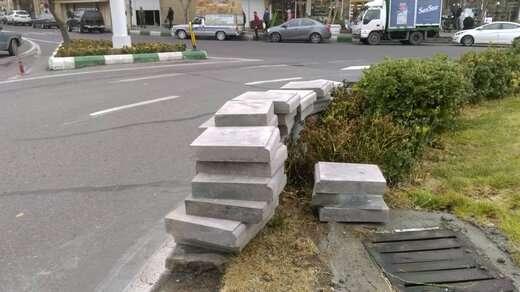 تعویض و نوسازی جداول سنگی دور میدان دانشسرا