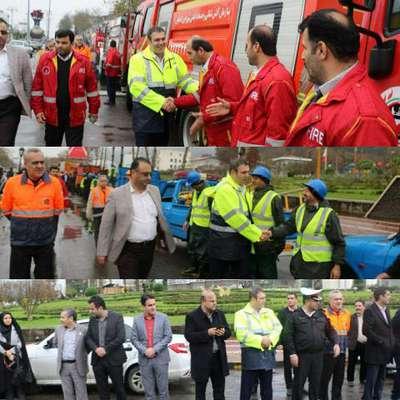 مانور آمادگی ستاد بحران شهرداری لاهیجان برگزار شد
