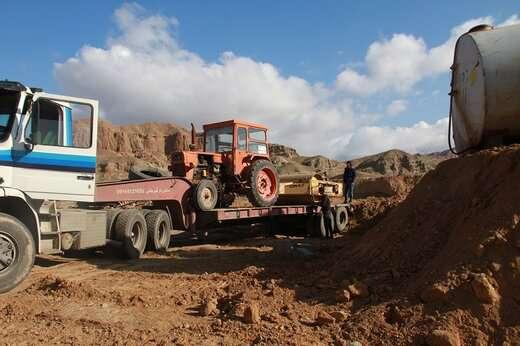 تجهیز کارگاه اجرای پروژه تعریض جاده زبالهگاه مرکزی تبریز