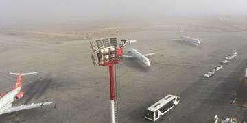 توقف پروازهای فرودگاه اهواز به دلیل مهگرفتگی/ مشکل آبگرفتگی نداریم