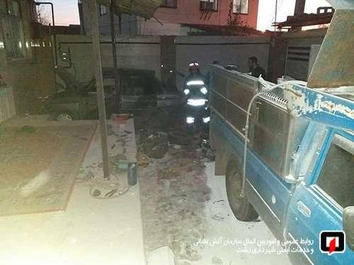 حادثه انفجار گاز LPG دو مصدوم بر جای گذاشت/ آتش نشانی رشت