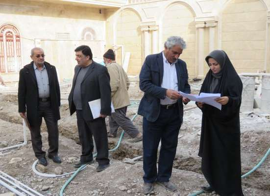 گزارش تصویری از بازدید تیم گروه نظارت سازمان  از شهرهای اطراف(کهک)