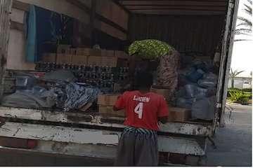 تحویل کالاهای مکشوفه توسط یگان حفاظت بندر چابهار به سازمان اموال تملیکی