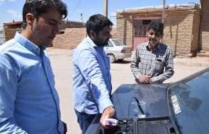 پایش مشترک آب شرب روستاهای باخرز با حضورکارشناسان کنترل کیفی آبفای شهری و روستایی