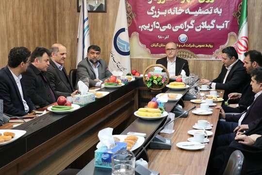 بازدید شورای اسلامی شهر لنگرود از تصفیه خانه بزرگ آب گیلان