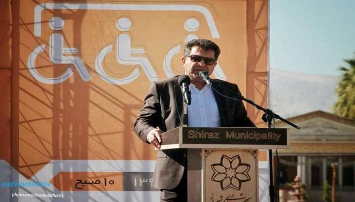 قائدی در مراسم ونهای مناسبسازی شده جانبازان و معلولان: شیراز باید محل زندگی آسان همه اقشار باشد