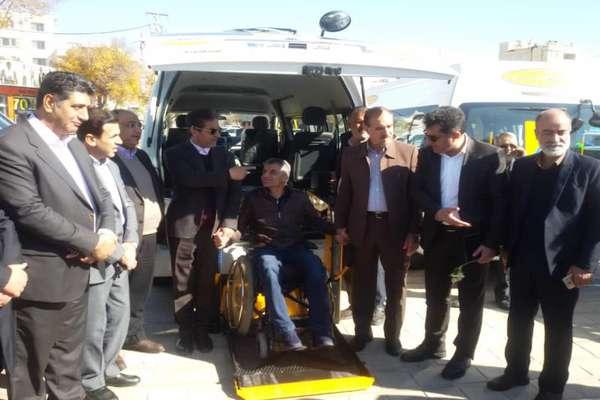 ونهای مناسبسازی شده ویژه جانبازان و معلولان شیراز آغاز به کار کرد