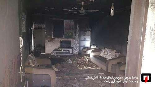 عملیات 33 آتش نشان در پی آتش سوزی دو خانه در رشت، سوختگی مرد جوان به خیر گذشت/آتش نشانی رشت