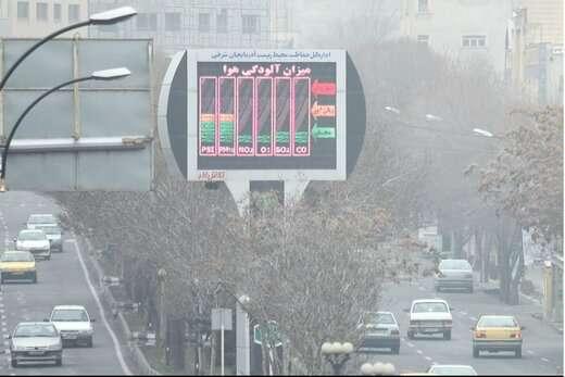 هوای تبریز همچنان ناسالم است