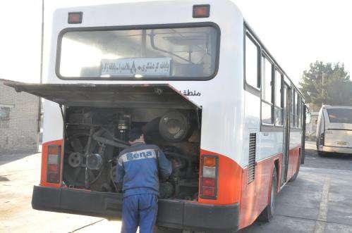 خروج اتوبوسهای دودزا از چرخه سرویسدهی و اعزام به مراکز تعمیراتی