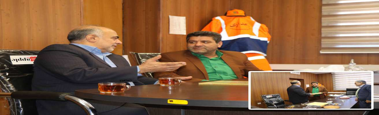 به مناست روز راهدار ؛دیدار مهندس مهدلو شهردار زرند با رئیس اداره راهداری و حمل ونقل جاده ای زرند