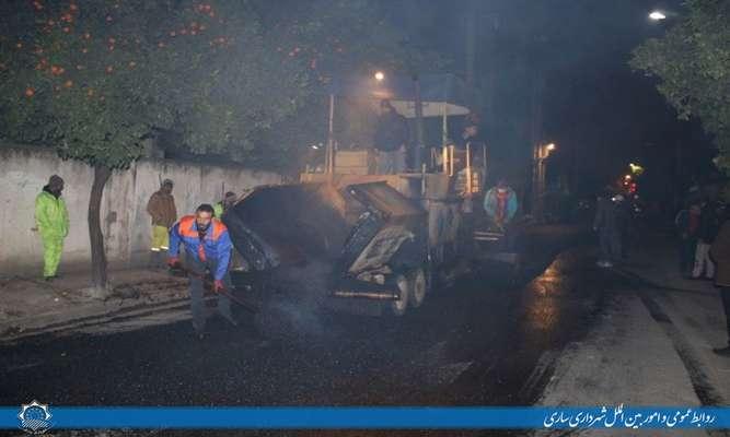 آسفالت خیابان امیرکبیردر حال اجرا است