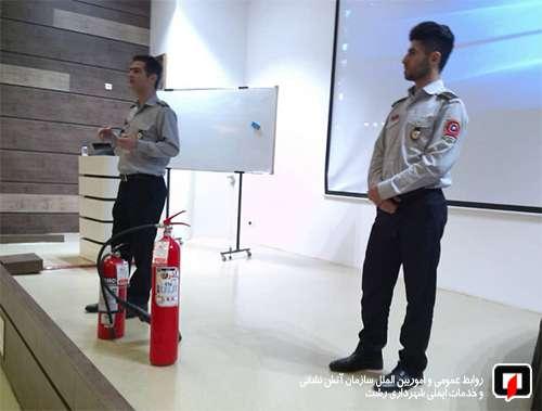 آموزش ایمنی و آتش نشانی به پرسنل بیمارستان پارس /آتش نشانی رشت