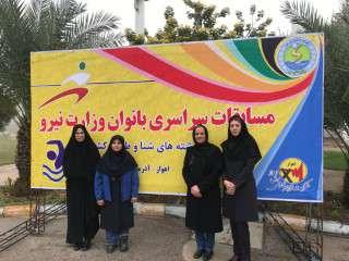 کسب مقام برای بانوان شرکت برق منطقه ای زنجان در ششمین دوره مسابقات شنای خواهران وزارت نیرو
