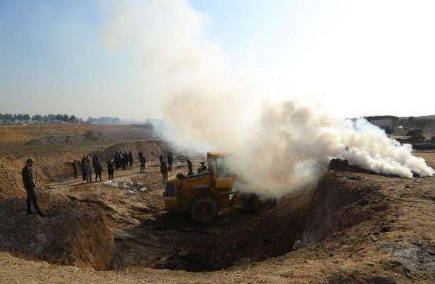 تخریب و جمع آوری ۱۰۰ کوره غیرمجاز زغال گیری در ری