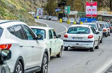 ترافیک جنوب به شمال جاده کندوان و هراز نیمه سنگین است