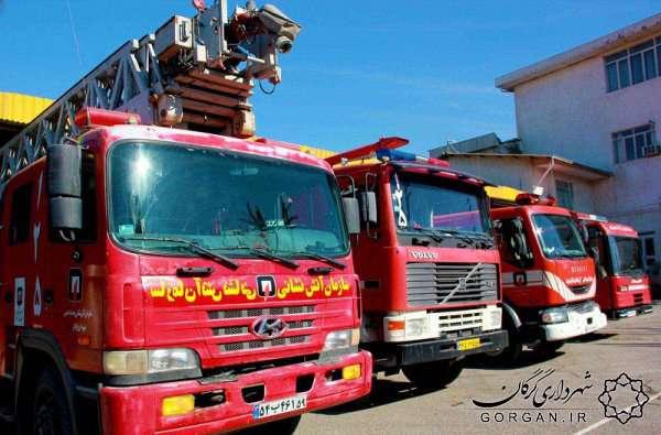 حریق منزل مسکونی در گرگان/ اعزام 2 تیم اطفاء حریق