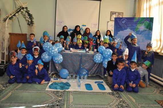برگزاري جشن آب و شكوفه ها در در مدرسه شهید طالقاني خوي