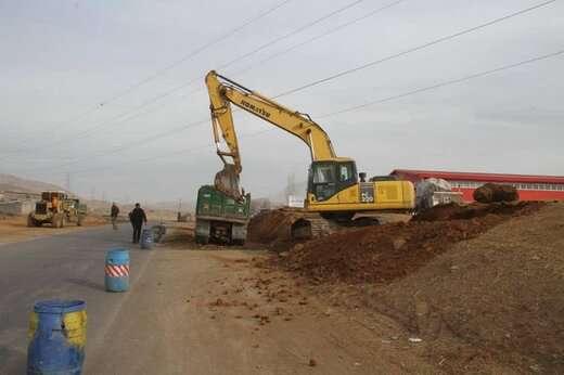 عملیات تعریض جاده زباله گاه مرکزی آغاز شد