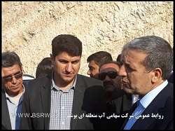 بازدید استاندار بوشهر از خط انتقال سد باغان
