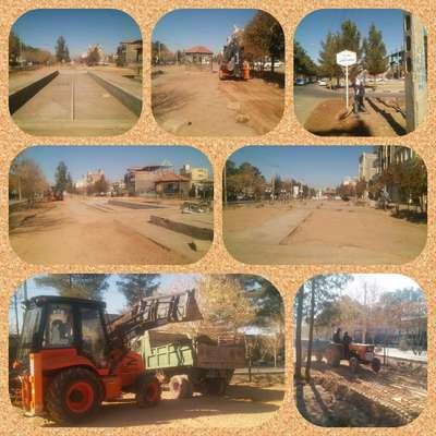 بازسازی و نوسازی محوطه فضای سبز بلوار ۱۵ خرداد وارد فاز اجرایی شد.