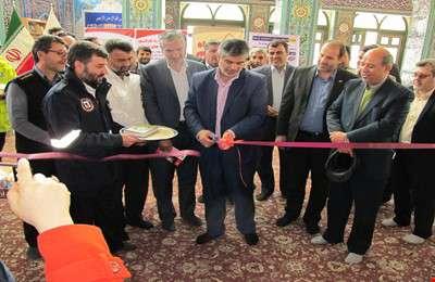 افتتاح نمايشگاه به مناسبت روز ايمني (5 ديماه) در مصلي