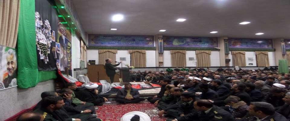 مراسم بزرگداشت سردار دلها در خوسف برگزار شد
