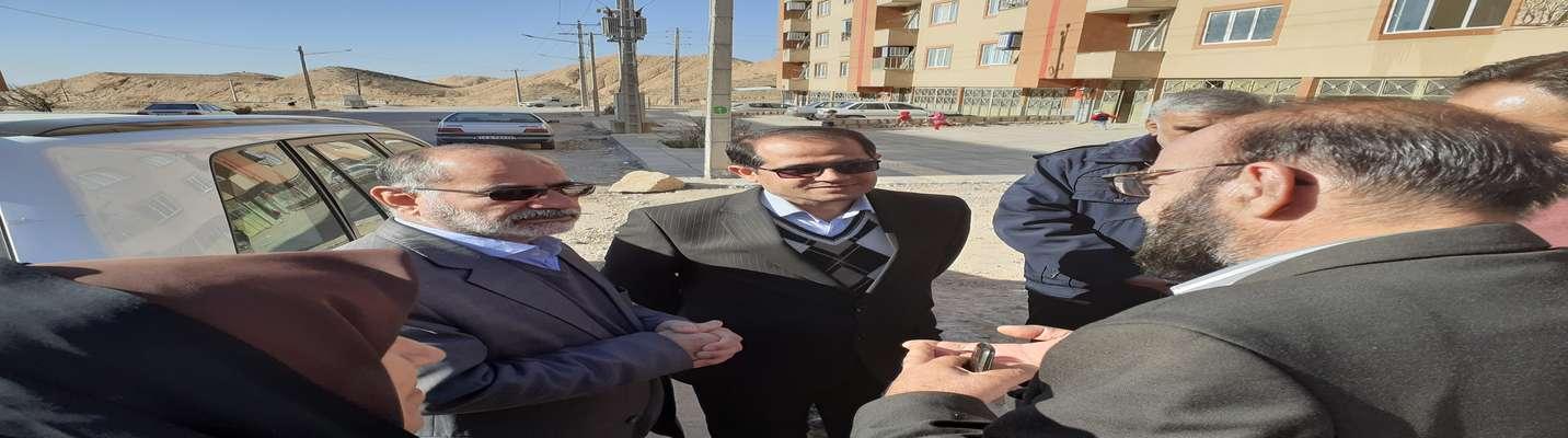بازدید مدیر کل راه شهرسازی خراسان شمالی جناب آقای نژاد صفوی به همراه شهردار