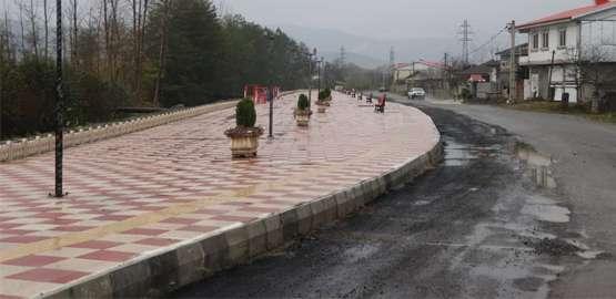 پروژه در حال اجرای پیاده راه خیابان شهید رجایی