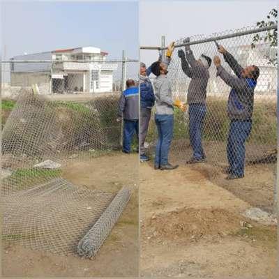اتمام پروژه فنس گذاری اطراف دریاچه سد انحرافی شاوور