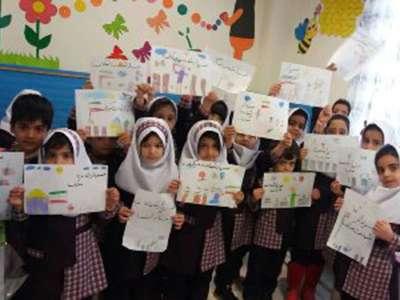 نقاشی تصویر سردار شهید سپهبد سلیمانی توسط نو آموزان خانه فرهنگ دانش