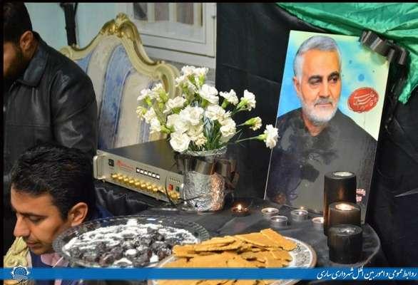 مراسم بزرگداشت سردار شهید حاج قاسم سلیمانی در شهرداری ساری و سازمان های تابعه برگزار شد