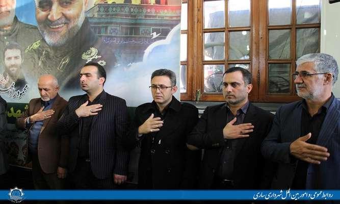 حضور شهردار ساری در مراسم گرامیداشت  شهید سپهبد قاسم سلیمانی