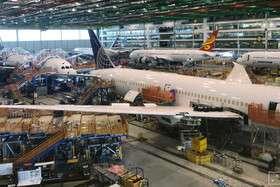 تولید هواپیماهای بوئینگ کاهش مییابد