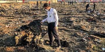 بوئینگ اوکراینی هنگام سقوط ۲ بار با زمین برخورد کرد/ اگر هواپیما موشک خورده بود، همان بالا منفجر میشد