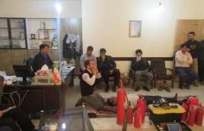 برگزاری مانور اطفای حریق و دوره آموزشی کمک های اولیه در آبفار جوین