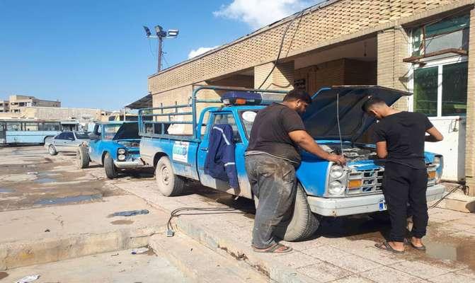 عملکرد یک ماهه واحد ترابری شهرداری مسجدسلیمان