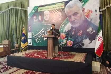 سخنرانی و بیان خاطرات شهردار دامغان در مراسم بزرگداشت شهید سلیمانی
