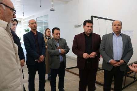 بازدید اعضای شورای اسلامی شهر گرگان از بازارچه دائمی صنایع دستی