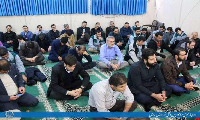برگزاری مراسم یابود سردارشهید سپهبد قاسم سلیمانی در نمازخانه عمارت شهرداری ساری
