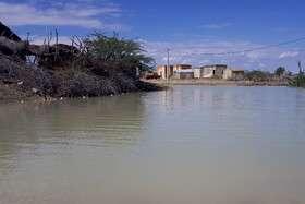 محاصره شدن راههای ۱۰ روستا در سیستان و بلوچستان بر اثر سیل