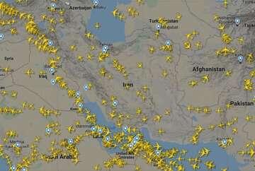 ایرلاینهای خارجی آسمان ایران را دور میزنند