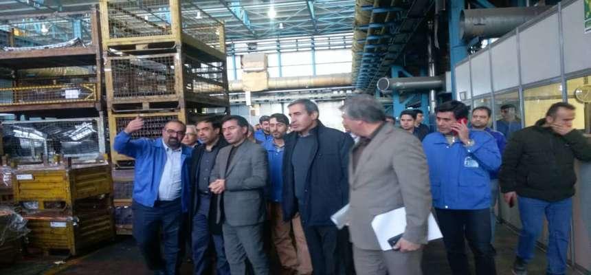 بازدید اعضای کمیسیون ماده 5 از شرکت قالبهای صنعتی ایران خودرو