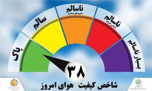 کیفیت هوای شهر مشهد پاک اعلام شد