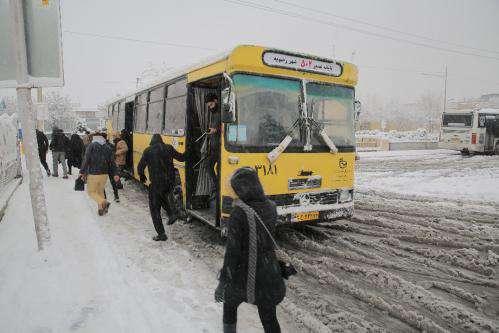 فعالیت و خدمات رسانی تمامی ظرفیت ناوگان اتوبوسرانی شهرداری مشهد