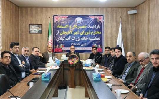 اعضاء شورای اسلامی شهر لاهیجان از تصفیه خانه بزرگ آب گیلان بازدید کردند