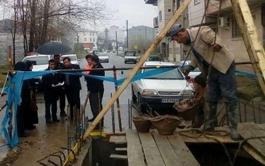 بازدید فرماندار آستانه اشرفیه از پروژه فاضلاب درحال اجرای این شهر
