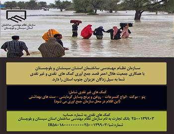 تشکیل تیم های مهندسان  ارزیاب برای  برآورد خسارات سنگین سیل استان سیستان و بلوچستان
