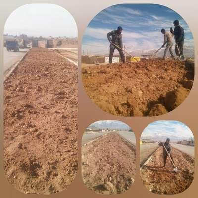 اجرای عملیات آماده سازی رفیوژ وسط بلوار پارسیان