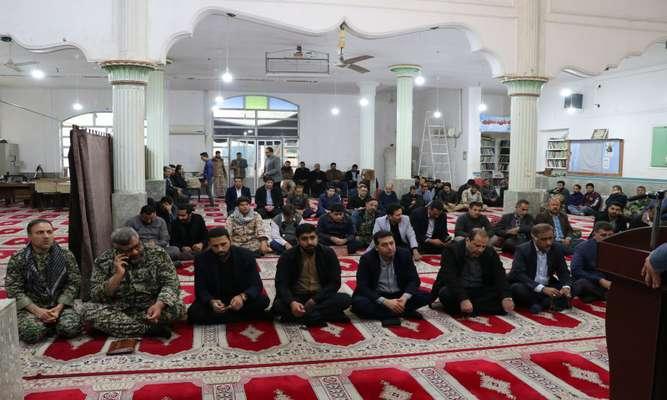 برگزاری مراسم گرامیداشت یاد و خاطره سردار شهید حاج قاسم سلیمانی  توسط شرکت کرخه و شاوور